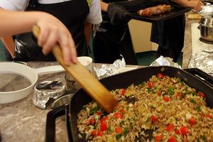 Students from Wanganui competing in The Maggi Kitchen Showdown, 2013. Photo / Stuart Munro