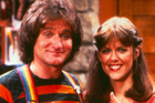 Robin Williams in his first breakout role as Mork from Ork with Mindy.