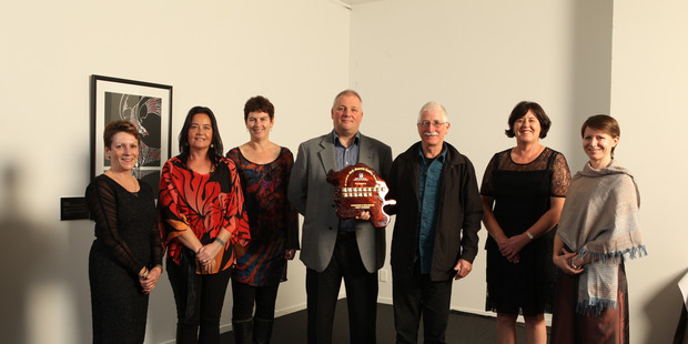 WINNING MESSAGE: Celebrating winning the supreme accolade in the Northland Health Sector Awards for the suicide prevention play Matanui.