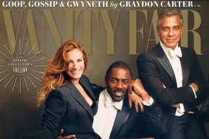 Julia Roberts on the cover of Vanity Fair. Photo / Supplied.