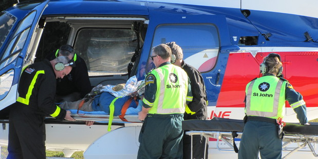 Five helicopters ferried five patients to the Wanaka Medical Centre between 2pm and 3pm yesterday. Photo / Otago Daily Times