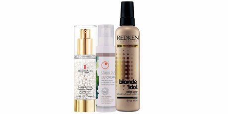 Elizabeth Arden Flawless Future Caplet Serum; Oasis BB Cream The Monroe; Redken Blonde Idol BBB Spray.