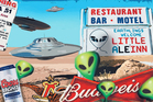 The Little A'Le'Inn is in Rachel, two hours from Las Vegas and right in the centre of 'The Extraterrestial Highway'. Illustration / Rod Emmerson