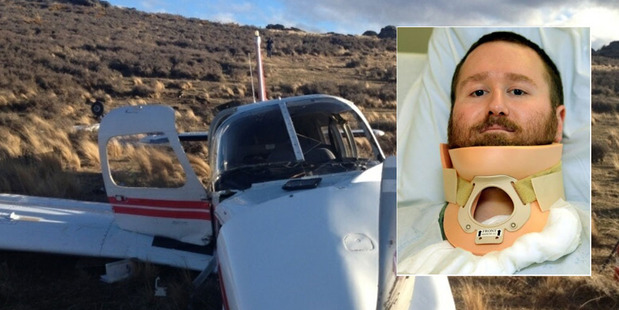 Erik Hoffmann, inset, says he has no recollection of the crash which killed pilot Ray Crow. Photo / ODT