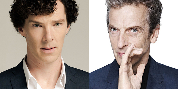 Benedict Cumberbatch as Sherlock and Peter Capaldi as Doctor Who. Will they ever meet?