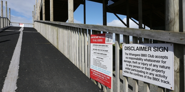 Warning signs will be backed up by fences at Whangarei BMX Club's track. Photo / Michael Cunningham