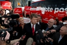 David Cunliffe focused on Labour's new health policy at the campaign launch. Photo / Brett Phibbs
