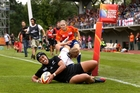 Justine Lavea scored the sixth try in the final minute against USA. Photo / Getty Images