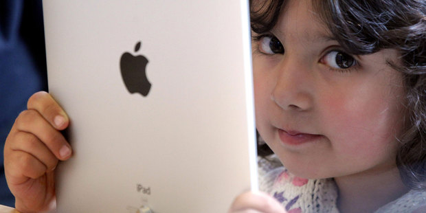 Mass production of a full-sized iPad with a 9.7-inch screen is under way according to sources. Photo / Getty