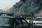 A plane crash in Iran is thought to have killed 40 people. Photo / Twitter