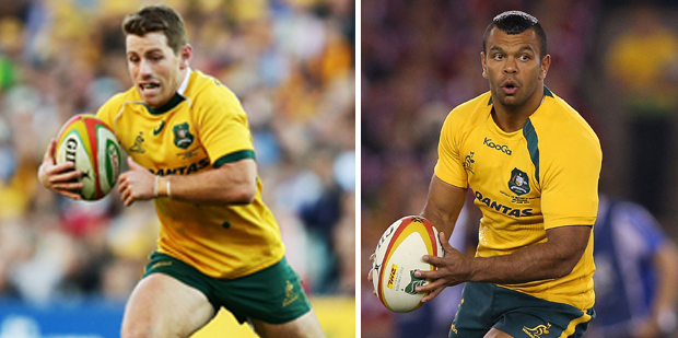Bernard Foley, Kurtley Beale. Photo / Getty Images