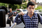 Uruguay's Luis Suarez arrives for a hearing at the international Court of Arbitration for Sports, CAS, in Lausanne. Photo / AP
