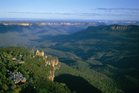 The Katoomba escarpment, with views out to the spectacular Blue Mountains and Jamison Valley. Photo / Supplied