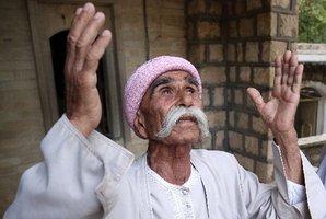 A follower of the ancient Yazidi religion. Photo / AP