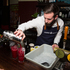 Bombay Sapphire's resident mixologist Dickie Cullimore, creating a Karen Walker Beetroot Fizz cocktail. Picture / Sam Lee