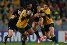 More Kiwis are likely to be watching the second Bledisloe Cup test between the All Blacks and the Wallabies on Saturday night than a political debate. Photo / Brett Phibbs