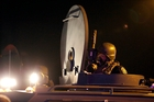 Police and troops are patrolling the streets of Ferguson in armoured vehicles. Photo / AP