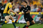 All Blacks halfback Aaron Smith in action in Sydney last weekend. Photo / Getty Images