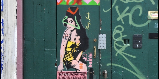 Bambi's fame was launched by the 2011 Amy Winehouse mural in north London. Picture / Redferns