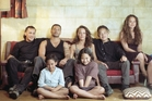 Then. From left, Julian Arahanga (Nig), Temuera Morrison (Jake 'The Muss'), Rena Owen (Beth), Mamaengaroa Pere (Grace) Taungaroa Emile (Boogie), Joseph Kairau (Huata) and Rachael Morris Tautau (Polly)