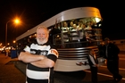Mark Scofield with his Art Deco bus that he will use to ferry Magpies supporters to games in Napier. He also plans to run a daily Napier city sightseeing tour. Photo / Paul Taylor