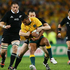 Ben Smith shuts down Kurtley Beale. Photo / Getty Images