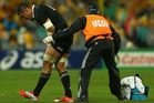 Jerome Kaino of the All Blacks leaves the field injured during The Rugby Championship match between the Australian Wallabies and the New Zealand All Blacks. Photo / Getty Images.