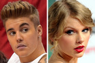 Justin Bieber and Taylor Swift. Photo / AP; Thinkstock