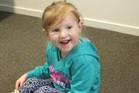 Three year-old Nakiyah Reid travelled from her home in Wellington to begin the three-week programme.