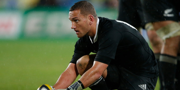 Aaron Cruden helped the All Blacks put pressure on in the first half of the game. Photo / Brett Phibbs