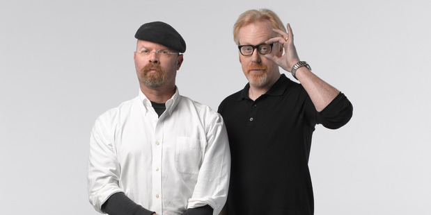 Jamie Hyneman and Adam Savage let their fans in on the live fun.