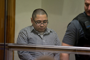 Juan Carlos Ruiz Mio at the Waitakere District Court being sentenced for filming and sexually assaulting girls in shopping malls. File photo / Dean Purcell