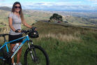 Ellie Mitchell's cycling efforts were rewarded with the spectacular 360 degree views at the top of Te Mata Peak.