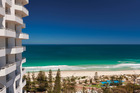 The beach view from Rendezvous Grand Hotel Perth.
