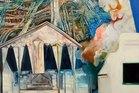 Robert Ellis Te Rawhiti III 1974 oil on board Auckland Art Gallery Toi o Tamaki.