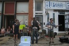 Musicians line Clarksdale's footpaths during the Juke Joint Festival, in Clarksdale, USA. Photo / Jack Barlow