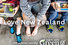 The Green party Aotearoa election billboard campaign new Zealand General Election 2014 concentrates on the Green vision for a smarter economy.