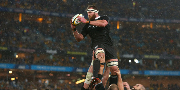 Loading Kieran Read of the All Blacks takes a lineout ball during The Rugby Championship match between the Wallabies and the All Blacks. Photo / Getty Images