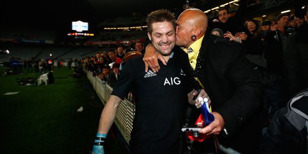 Richie McCaw was the toast of Eden Park, although he had another stint in the sinbin. Photo / Getty Images