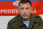 Alexander Zakharchenko, pro-Russian rebel leader, at a press conference in Donetsk. Photo / AP