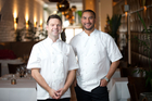 My Kitchen Rules New Zealand  judges Ben Bayly (left) and Gareth Stewart. Photo / Richard Robinson