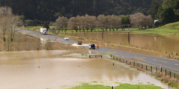 State Highway 10 north of the Whangaroa Bridge. Photo / Peter De Graaf