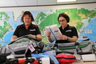 Whangarei Red Cross nurse Donna Collins, left, and Sharon Mackie, 45, from Wellington. PHOTO/SUPPLIED