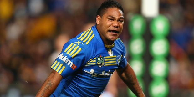 Chris Sandow of the Eels in action during the NRL match between the Parramatta Eels and the Manly Sea Eagles in Sydney. Photo / Getty Images