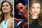Gisele Bundchen, Kate Moss and Miranda Kerr. Photo / AP; Supplied; NZH