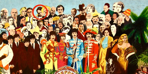 For many, Sgt. Pepper's Lonely Hearts Club Band is rock's foremost artefact, but the presence of German composer Karlheinz Stockhausen, circled in red, on the cover shows the Beatles were forward-thinking.