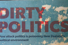 Author Nicky Hager's book, Dirty Politics.