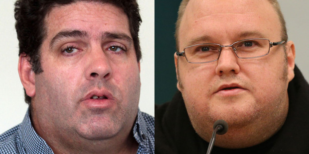Whale Oil blogger Cameron Slater (left) blames internet mogul Kim Doctom for the hacking of his website. File photo / NZ Herald