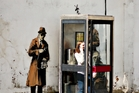 The Banksy mural Spybooth is valued at $1.97 million. Photo / AP
