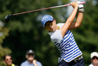 Lydia Ko tees off during the final round of the LPGA Championship. Photo / Getty Images